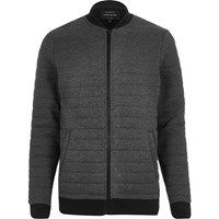 River Island Mens Dark Grey Quilted Jacket
