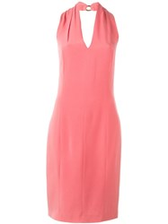 Christian Dior Vintage Halter Dress Pink And Purple