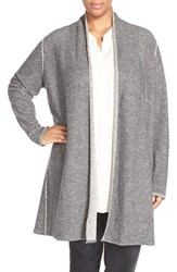 Plus Size Women's Eileen Fisher Long Organic Linen And Cotton Cardigan