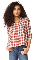 Current Elliott The Tuck Blouse Danika Plaid