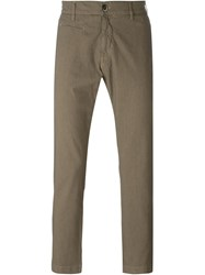 Barena Slit Pocket Detail Straight Leg Trousers Nude And Neutrals