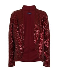 Hotsquash Sequin Jacket With Thermal Lining Wine
