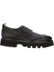 Bruno Bordese Ridged Sole Brogue Shoes Black