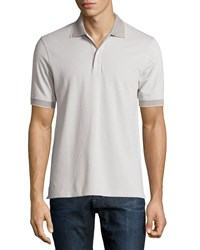 Luciano Barbera Contrast Trim Polo Shirt Gray