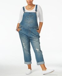 American Rag Trendy Plus Size Ricarda Wash Overalls Only At Macy's