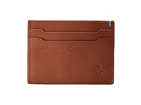 Original Penguin Dudley Card Holder English Tan Credit Card Wallet