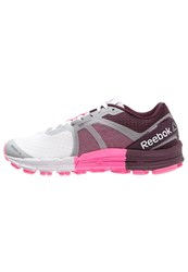 Reebok One Guide 3.0 Stabilty Running Shoes White Pink Maroon