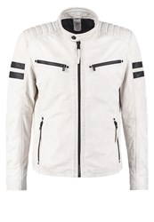 Gipsy Remmy Leather Jacket Weiss White