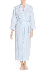Women's Eileen West Embroidered Cotton Ballet Robe