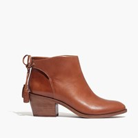 Madewell Et Sezane Low Heel Tassel Boots English Saddle