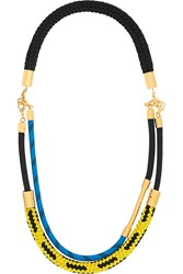 Marni Gold Plated Rope Necklace Black