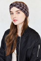 Urban Outfitters Houndstooth Ear Warmer Purple