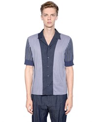 Antonio Marras Patchwork Cotton Knit And Vichy Shirt
