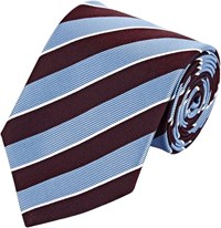 Ermenegildo Zegna Diagonal Stripe Neck Tie Purple