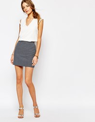 Suncoo A Line Mini Skirt In Blue Blue