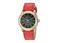 Marc Jacobs Courtney Mj1452 Red Strap Gold Plated Case Watches