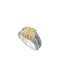 Lagos Embrace Medium Diamond Wrap Wring
