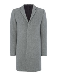 Selected Brook Wool Cashmere Overcoat Grey