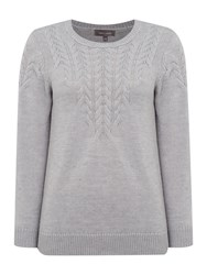 Pied A Terre Cable Knit Blue