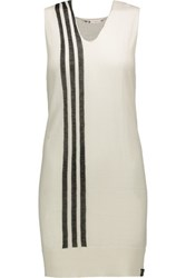 Y 3 Striped Knitted Tunic White