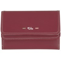 Tula Violet Leather Medium Flapover Wallet Burgundy