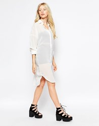 Motel Clarity Shirt Dress White