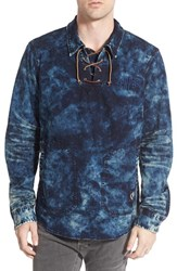 Men's Prps 'Bean' Marble Denim Lace Up Pullover