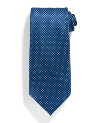 Stefano Ricci Neat Medallion Print Silk Tie Light Blue
