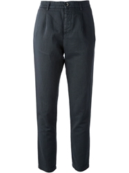 Barena Straight Leg Cropped Trouser Blue