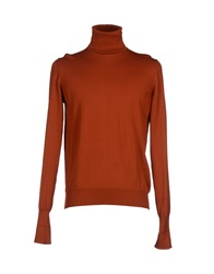 Alpha Massimo Rebecchi Turtlenecks Rust