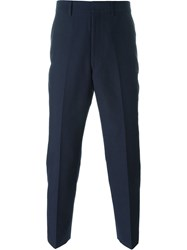 Junya Watanabe Comme Des Gara Ons Man Front Pleat Trousers Blue