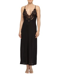 La Perla Sophia Lace Inset Long Gown Black