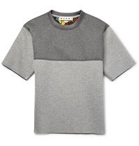 Marni Two Tone Padded Jersey Sweatshirt Gray