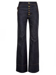 Ellery Phoenix High Rise Flared Jeans Navy