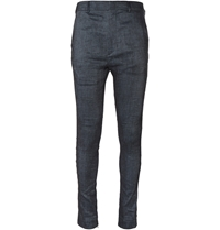 Haider Ackermann Ash Slim Fit Linen And Cotton Blend Trousers Gray