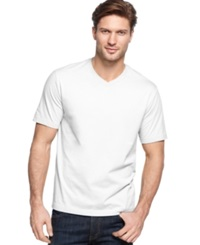 John Ashford Big And Tall Solid V Neck T Shirt Bright White
