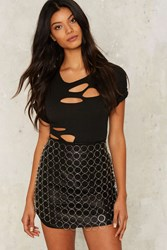 Dancing In Circles Chain Skirt Silver
