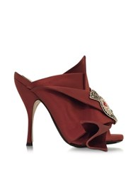 N 21 Satin Wrap High Heel Sandal Brown