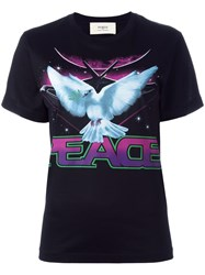 Ports 1961 'Peace' Print T Shirt Black