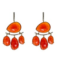 Nush Carnelian Bohemian Lux Earrings Red