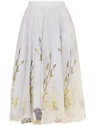 Ted Baker Rahele Pearly Petal Tulle Skirt Ash