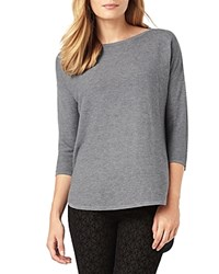 Phase Eight Megg Curved Hem Sweater Charcoal