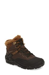 Merrell Women's Aurora 6 Waterproof Faux Fur Lined Boot Espresso Leather
