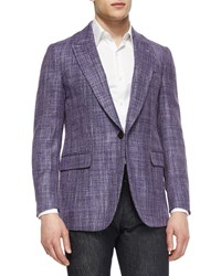 Berluti Tweed One Button Jacket Purple