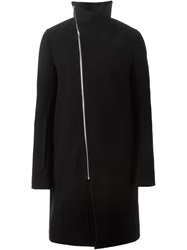 Rick Owens Funnel Neck Coat Black