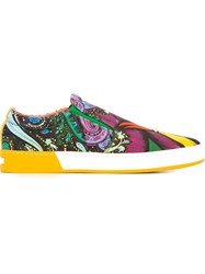 Etro Paisley Print Slip On Sneakers Multicolour