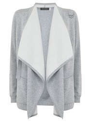 Hygge By Mint Velvet Double Faced Cardigan Silver Grey