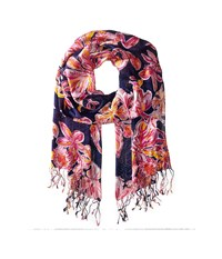 Lilly Pulitzer The Lilly Scarf Bright Navy Via Sunny Scarf Scarves Pink
