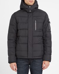 Wrangler Black The Guard Removable Hood Down Jacket