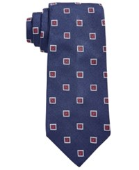 Brooks Brothers Men's Square Medallion Classic Tie Navy